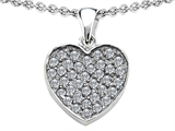 Star K™ Heart Shape Love Pendant Necklace with Cubic Zirconia style: 306424