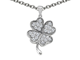 Celtic Love by Kelly Lucky Clover Pendant Necklace with Cubic Zirconia style: 306426