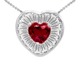 Star K™ Heart Shape Created Ruby Heart Pendant Necklace style: 306434