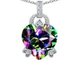 Original Star K™ Large Lock Love Heart Pendant with 13mm Heart Shape Rainbow Mystic Topaz style: 306514
