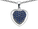 Star K™ Heart Shape Love Pendant Necklace with Created Sapphire style: 306543