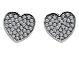 Star K™ Heart Shape Love Earrings with Cubic Zirconia style: 306550