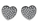 Star K™ Heart Shape Love Earrings with Cubic Zirconia style: 306550