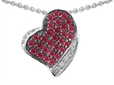 Star K™ Heart Shape Love Pendant Necklace With Created Ruby style: 306602