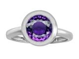 Star K™ 8mm Round Solitaire Ring With Simulated Amethyst style: 306876
