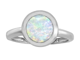 Star K™ 8mm Round Solitaire Ring With Simulated Opal style: 306880