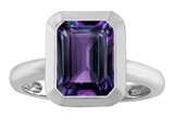 Star K™ 9x7mm Emerald Cut Octagon Solitaire Ring With Simulated Alexandrite style: 306957