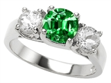 Star K™ 7mm Round Simulated Emerald Ring style: 307012