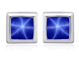 Original Star K™ 7mm Square Cut Created Star Sapphire Earrings Studs style: 307038