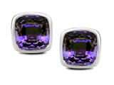 Star K™ 7mm Cushion Cut Simulated Alexandrite Earrings Studs style: 307041