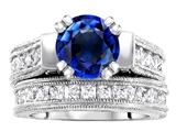 Original Star K™ 7mm Round Created Sapphire Wedding Set style: 307059