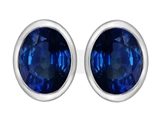 Star K™ 8x6mm Oval Created Sapphire Earrings Studs style: 307082