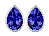 Star K™ 9x6mm Pear Shape Simulated Tanzanite Earrings Studs style: 307102