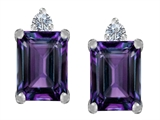 Star K™ 8x6mm Emerald Octagon Cut Simulated Alexandrite Earrings Studs style: 307176
