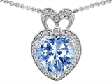 Original Star K™ Heart Shape Simulated Aquamarine Pendant style: 307229