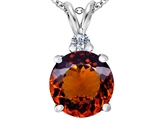Star K™ Large 12mm Round Simulated Garnet Pendant Necklace style: 307238