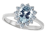 Star K™ 8x6mm Pear Shape Simulated Aquamarine Ring style: 307272