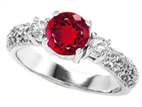 Original Star K™ 7mm Round Created Ruby Ring style: 307298