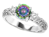 Star K™ 7mm Round Rainbow Mystic Topaz Ring style: 307301
