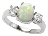 Original Star K™ 9x7mm Oval Simulated Opal Engagement Ring style: 307313