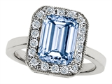 Star K™ 10x8mm Emerald Cut Simulated Aquamarine Ring style: 307320