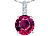 Star K™ Large 12mm Round Created Ruby Pendant Necklace style: 307345