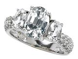 Original Star K™ 9x7mm Oval Genuine White Topaz Engagement Ring style: 307539