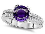 Star K™ Round 7mm Genuine Amethyst Wedding Ring style: 307598