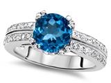 Original Star K™ Round 7mm Genuine Blue Topaz Wedding Ring style: 307600