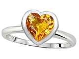 Tommaso Design™ 7mm Heart Shape Genuine Citrine Engagement Solitaire Ring style: 307627