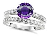 Star K™ Round 7mm Simulated Amethyst Wedding Ring style: 307691