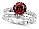 Star K™ Round 7mm Simulated Garnet Wedding Ring style: 307697
