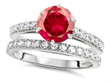 Star K™ Round 7mm Created Ruby Wedding Ring style: 307701