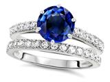 Star K™ Round 7mm Created Sapphire Wedding Ring style: 307702