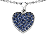 Star K™ Heart Shape Love Pendant Necklace with Created Sapphire style: 307882