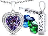 Switch-It Gems™ Heart Shape 10mm Simulated Alexandrite Pendant Necklace with 12 Interchangeable Simulated Birth Months style: 307962