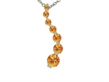 Tommaso Design™ 1inch long Genuine Citrine Journey Pendant Necklace style: 308187