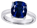 Star K™ 8mm Cushion Cut Solitaire Ring with Created Sapphire style: 308225