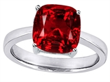 Original Star K™ 8mm Cushion Cut Solitaire Ring with Created Ruby style: 308226