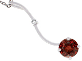 Tommaso Design™ 7mm Round Genuine Garnet Pendant Necklace style: 308365