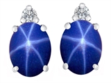 Original Star K™ 8x6mm Oval Created Star Sapphire Earrings Studs style: 308393