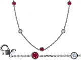 Star K™ 16 Inch Gems By The Yard Necklace With Round Created Ruby style: 308439