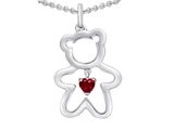 Star K™ Love Teddy Bear with 4mm Heart Shape Created Ruby style: 308576