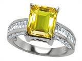 Star K™ 10x8mm Emerald Cut Simulated Citrine Ring style: 308740