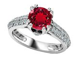 Star K™ Round Created Ruby Ring style: 308813