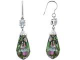 Original Star K™ Briolette Drop Cut Rainbow Mystic Topaz Hanging Hook Chandelier Earrings style: 309216