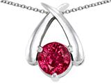 Star K™ XO Hug and Kiss Pendant Necklace with Round 7mm Created Ruby style: 309243
