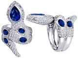 Star K™ Good Luck Snake Ring with Created Sapphire Stones style: 309597