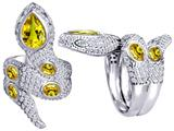 Star K™ Good Luck Snake Ring with Simulated Citrine Stones style: 309602