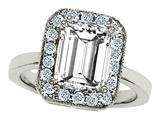 Star K™ Emerald Cut Genuine White Topaz Ring style: 310563